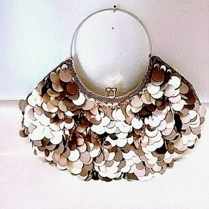 Gold Sequined Evening Bag